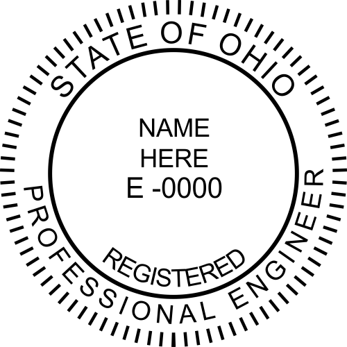 State of Ohio Engineer Stamp