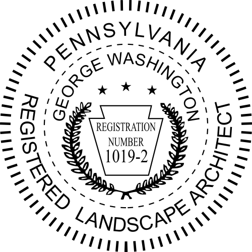 State of Pennsylvania Landscape Architect