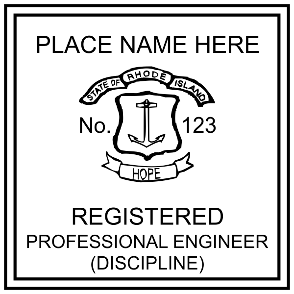 State of Rhode Island Engineer Stamp