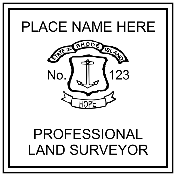 State of Rhode Island Land Surveyor Stamp