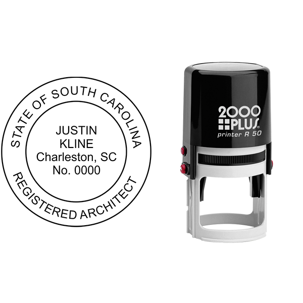 State of South Carolina Architect Seal Body and Imprint