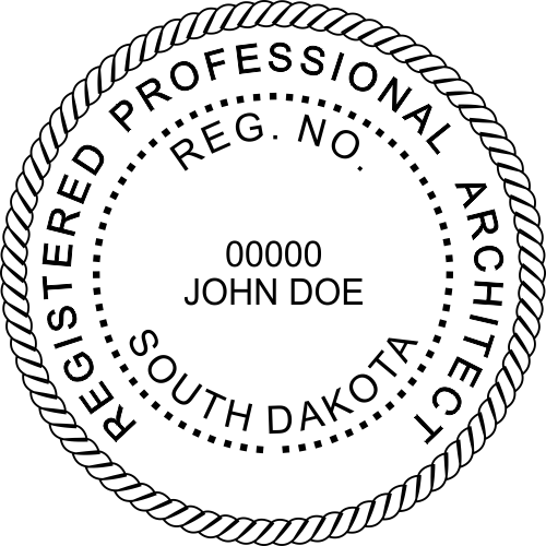 State Of South Dakota Architect Seal Corp Connect