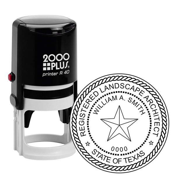 State of Texas Landscape Architect Seal