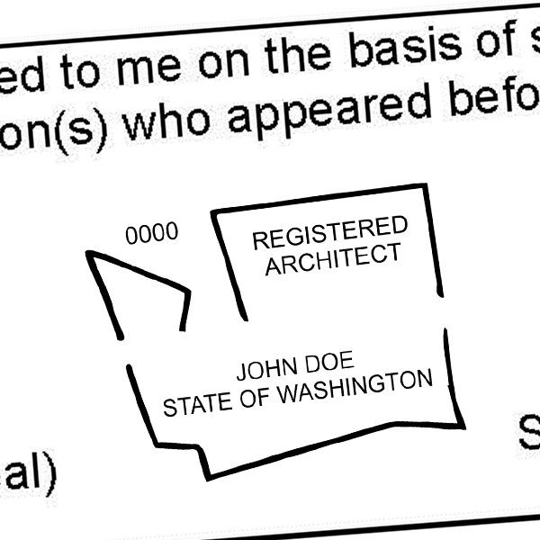 State of Washington Architect Seal Imprint