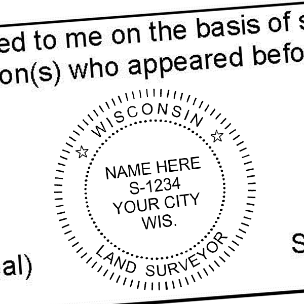 State of Wisconsin Land Surveyor Seal Imprint