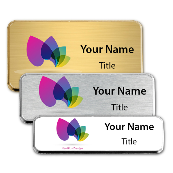 Full Color Executive Badges with Rounded Corners