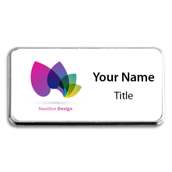 Medium Full Color Executive Badges with Rounded Corners
