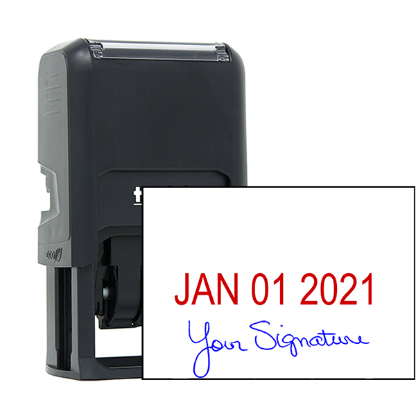 Self-Inking Date and Signature Stamp