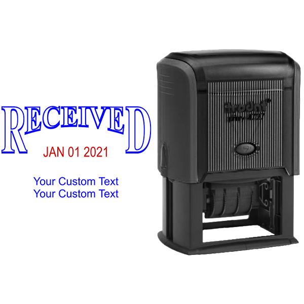 Received Custom Date Stamp with Trodat 4727