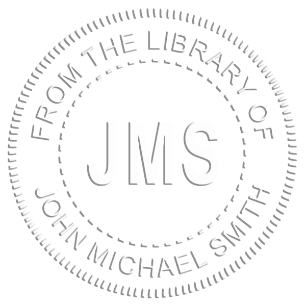 From the Library Initials Embosser Seal