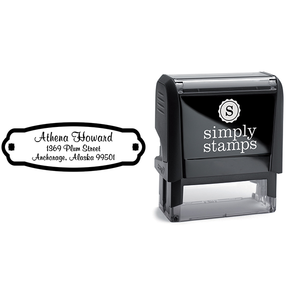 Plaque Styled Custom Address Stamp Body and Design
