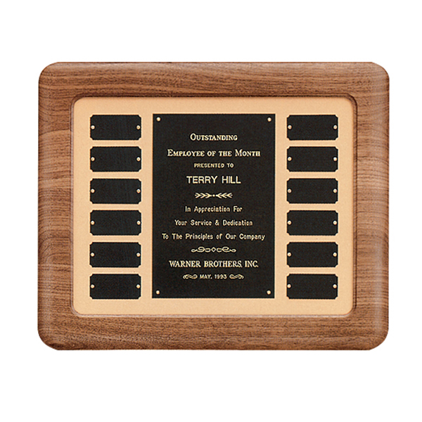 Perpetual Plaque in Walnut with Airflyte Frame