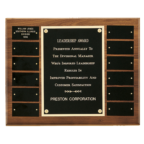 12 Plate Perpetual Plaque with Center Frame 12 x 15