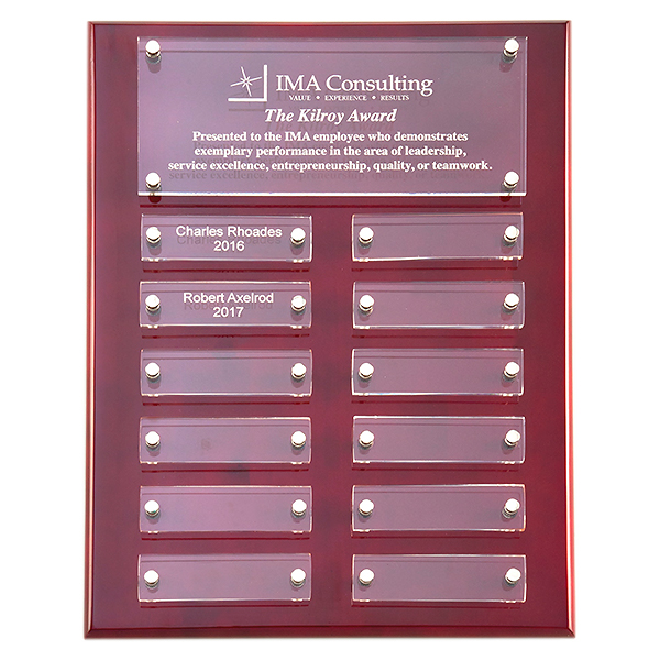Rosewood High Gloss Plaque with Acrylic Engraving Plates