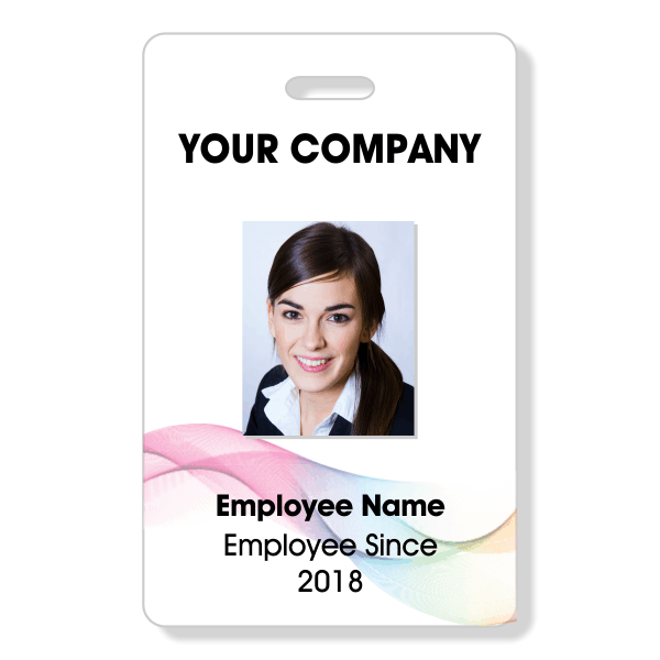 Abstract Rainbow Photo ID Badge
