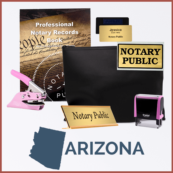 Arizona Pink Deluxe Notary Kit