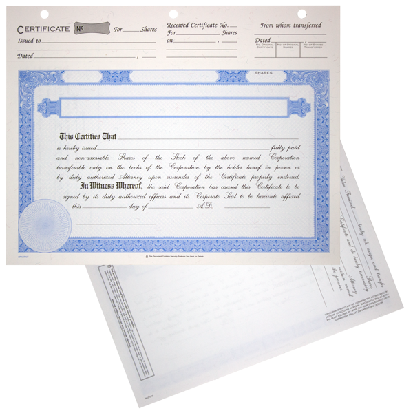BLUTO 02 Limited Liability Partnership Membership Certificates Blank Set of 20