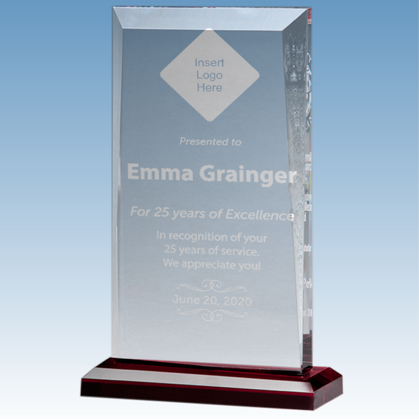 Career Recognition Apex Style Acrylic Award w/ Red Base