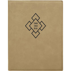 Custom Logo Leatherette Folio Small
