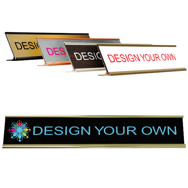 "Customizable Name Plate for Desk - Full Color 2"" x 12"""