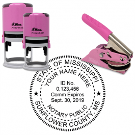 Mississippi Notary Pink - Round Design