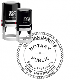 New Hampshire Notary Stamp - Round with Expiration Date