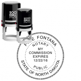 North Dakota Notary Stamp - Round