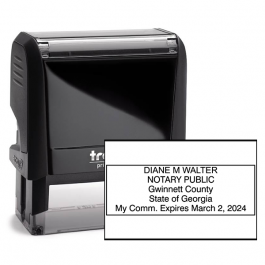 Georgia Rectangular Notary Seal
