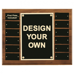 "12 Plate 12"" x 15"" Perpetual Plaque with Center Frame"