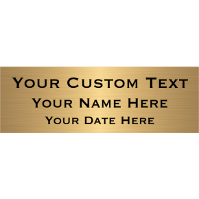 "Custom Three Line Brass Plates | 2"" x 6"""