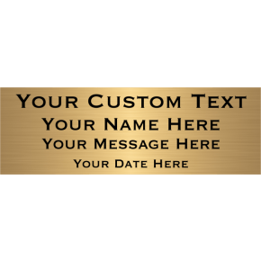 "Custom Four Line Brass Plates | 2"" x 6"""
