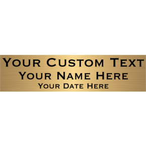 "Three Line Custom Brass Plates | 2"" x 8"""