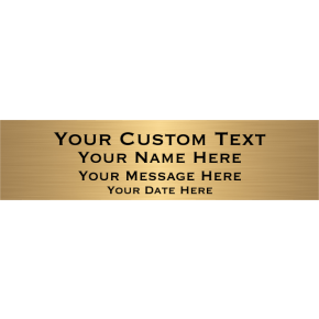 "Custom Four Line Brass Plates | 2"" x 8"""