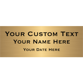 "Custom Three Line Brass Plates | 3"" x 8"""