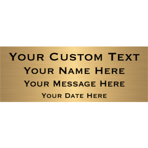 "Custom Four Line Brass Plates | 3"" x 8"""