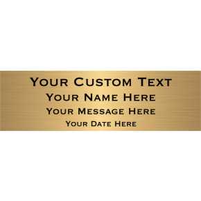"Custom Four Line Brass Plates | 3"" x 10"""