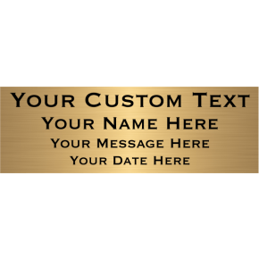 "Custom Four Line Brass Plates | 4"" x 12"""