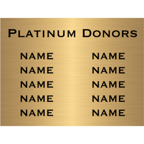 "10 Name Brass Plates | 6"" x 8"""