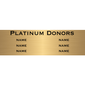 "6 Name Brass Plates | 6"" x 20"""