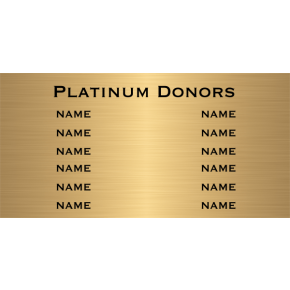 "12 Name Brass Plates | 12"" x 24"""