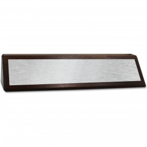 "2"" x 8 1/2"" Genuine Walnut Desk Wedge with Full Color Name Plate"