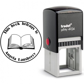 Round Open Book Stamp
