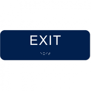 """Exit ADA Sign with Braille 