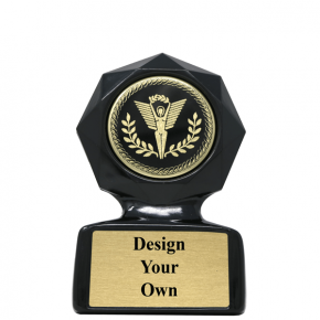 Small Black Star Sculpted Victory Trophy Award