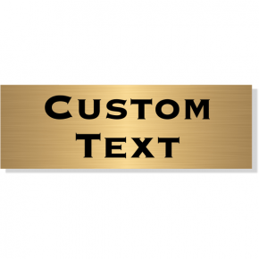 "Double Line Custom Text Brass Plate | 2"" x 6"""