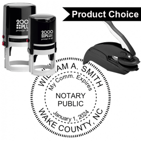 North Carolina Notary Round With Expiration Date