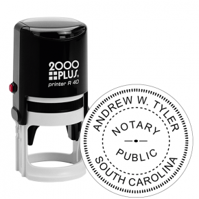 South Carolina Notary Round Stamp