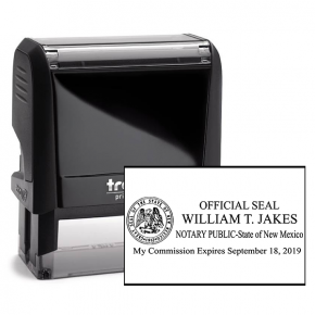 New Mexico Notary Rectangular State Stamp