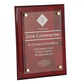 9 x 12 Career Recognition Floating Acyrlic Plaque