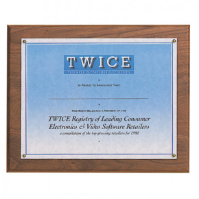 Certificate Award Plaque